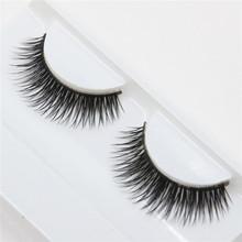 1 par de espessura cílios postiços naturalmente magro moda de beleza Cílios