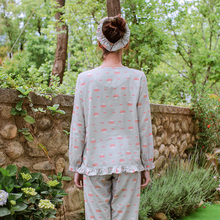Song Riel brand sweet autumn models cute couple pajamas home service men and women casual suit