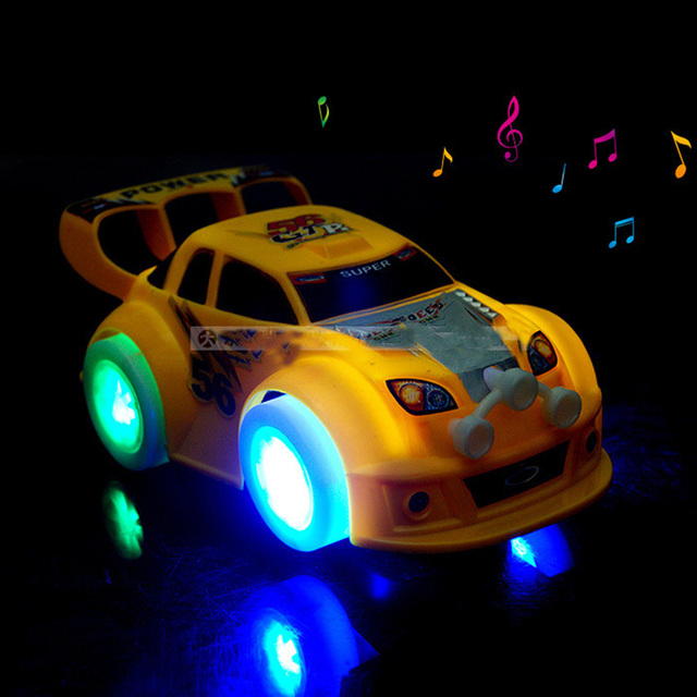 Hot wheels toys Cars with led light gimbal wheel Music Car toy Gift juguetes Best Price For children kids toys