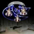 1 5W 3W Modern LED Crystal Moon Star Ceiling Light Lamp For Living Room Restaurant Corridor