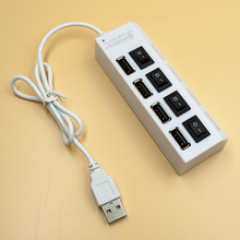 New stor big promotion 4 Ports LED USB High Speed 480 Mbps Adapter USB Hub With Power on/off Switch For PC Laptop Computer