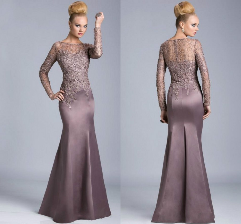 Sexy long sleeve mermaid mother of the bride dresses new for Wedding dresses for mother of bride