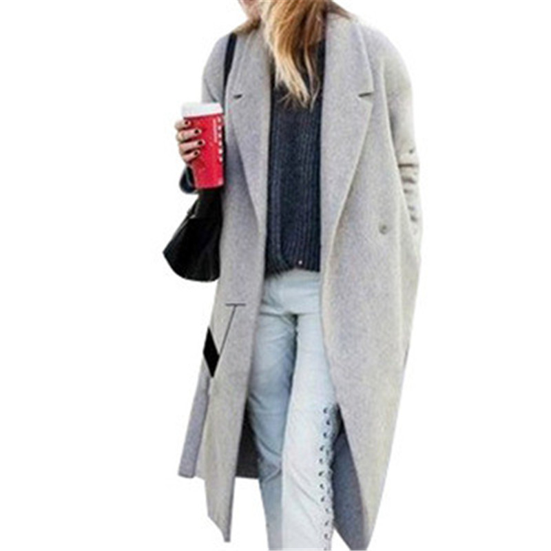 Grey Wool Coat Womens