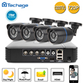 Techage P2P Home Security CCTV System 4CH 720P AHD Video DVR 1200TVL 1 0MP Night Vision