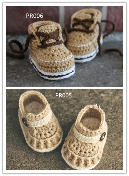 Crochet Baby Shoes Boys Handmade Booties Baby Girls House Slippers ...