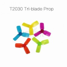 10 pair 2030 R2030 2x3 tri-Blade bullnose propeller compatible 102, 1104, 1105 brushless motor for mini fly indoor kit(China (Mainland))