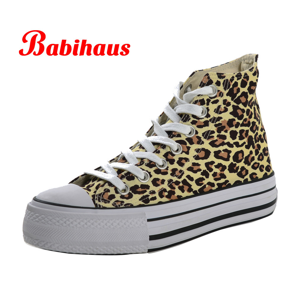 Free Shipping Babihaus Ladies Brand Platform Canvas Shoes Women High Top Flat Shoes Female Sexy ...