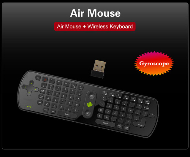 Gyroscope Mini Fly Air Mouse RC11 2.4GHz wireless Keyboard for google android Mini PC TV Palyer box dropshipping