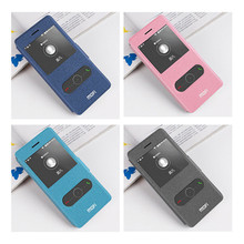 4 Colors Original Mofi Open Window PU Leather Phone Case Flip Cover for Huawei P8 Lite Case Fundas Coque for Huawei P8 Lite