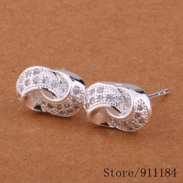 E372 silver plated earrings , fashion jewelry /arqajixa ciiakzpa - Fancy True Love Jewelry Trade Co.,Ltd store