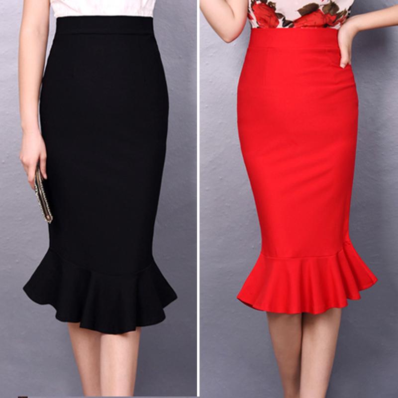 Perfect GreyBlack SMLXLXXL3XL4XL5XL 2015 Formal Women Long Skirts