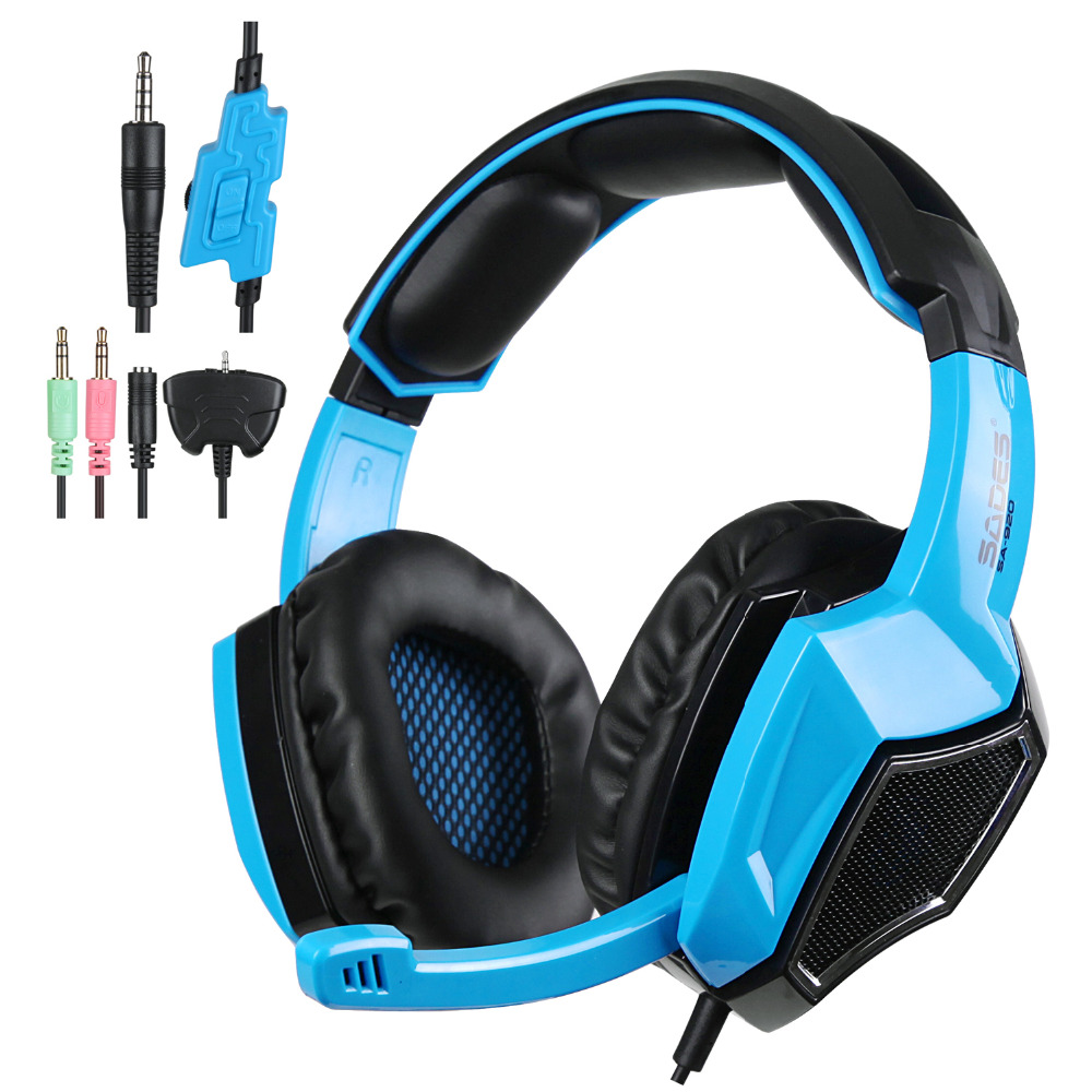 SADES SA920 3 in 1 Gaming Headset 7.1 Surround Sound 3.5MM Olug Cable Effect Game Headphones with Mic for PC PS4 XBOX 360(China (Mainland))