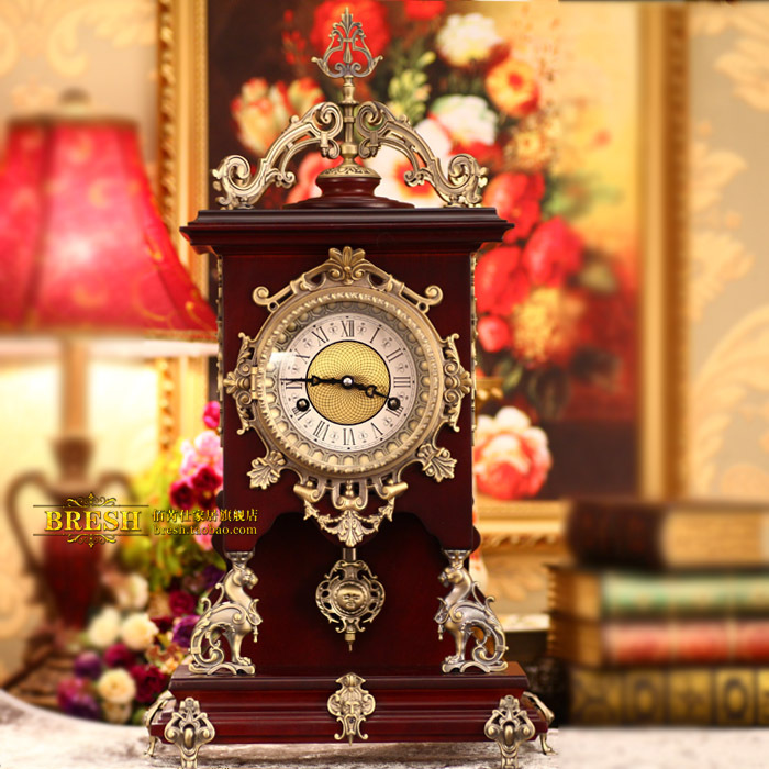 European royal classic mechanical clock room Louis dynasty CL1816- counter genuine classic home decor boutique(China (Mainland))