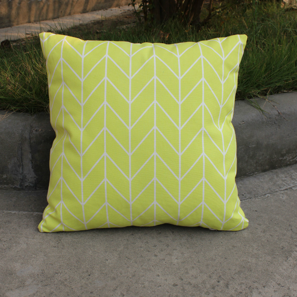 Modern Chair Pillows : wholesale yellow geometry cotton cushions cover throw pillows case cover sofa chair home ...