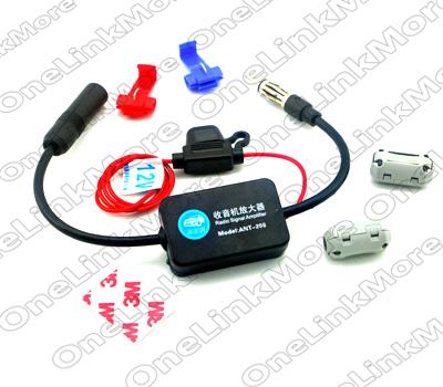 Гаджет  1pc/lot New 88~108MHz Auto Booster universal FM Car Radio Antenna Signal Amp Amplifier Free Shipping None Автомобили и Мотоциклы