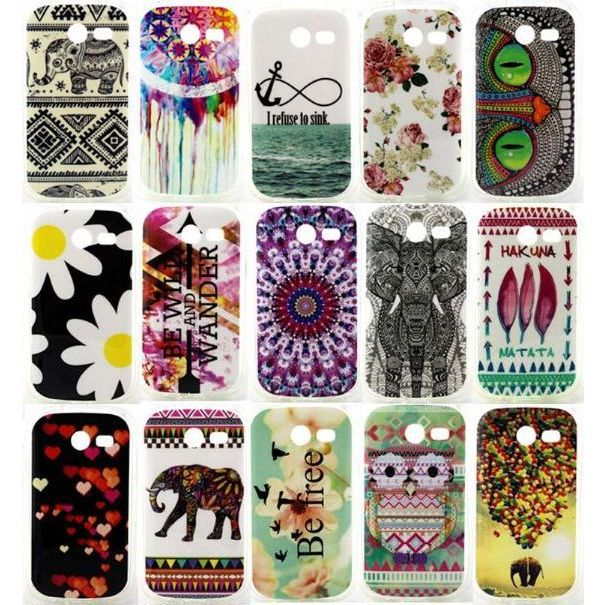 Cute Owl Elephant Balloon Pattern Design TPU Soft Case Samsung Galaxy Pocket 2 G110 Back Cover Cases - IRS Trading Co.,Ltd store