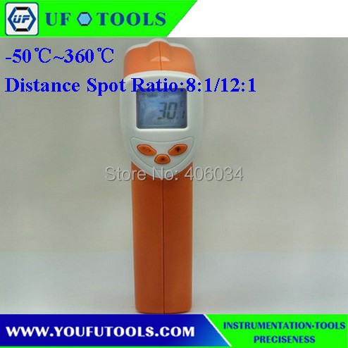 UF-8360 Hand-held Portable Digital Low Temperature Infrared /Mini Thermometer -50~360 degree