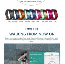 TW64 supplier Fitness Tracker Bluetooth Smartband Sport Bracelet Smart Band Wristband Pedometer For iPhone IOS Android PK Fitbit