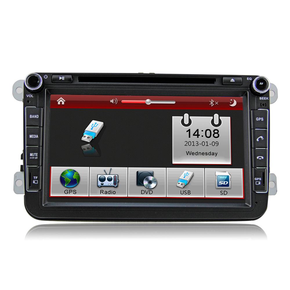"8"" 2din In dash Car audio DVD CD GPS bluetooth for Volkswagen CC PASSAT Golf car radio GPS navigation DJ8015(China (Mainland))"