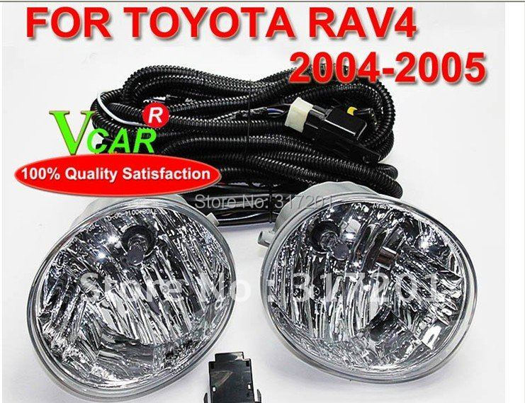 HOT!Free ship!2004~2005 TOYOTA RAV4 fog light/fog lamp with Halogen bulb+wire of harness,4300K,super good quality!<br><br>Aliexpress