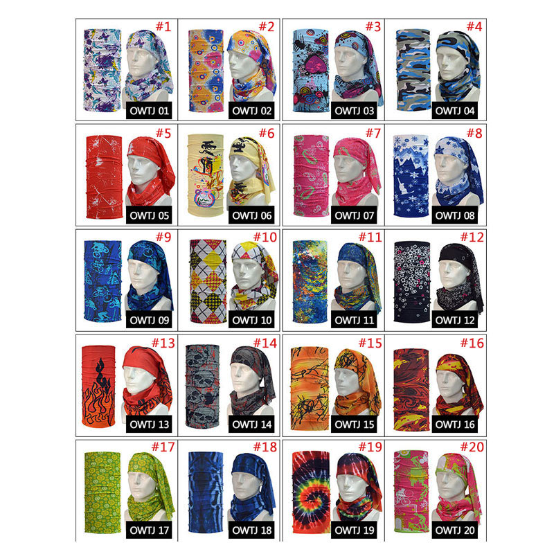 Hot Sale Bandanas Hood Magic Headband Veil Multi Function Head Scarf H9(China (Mainland))