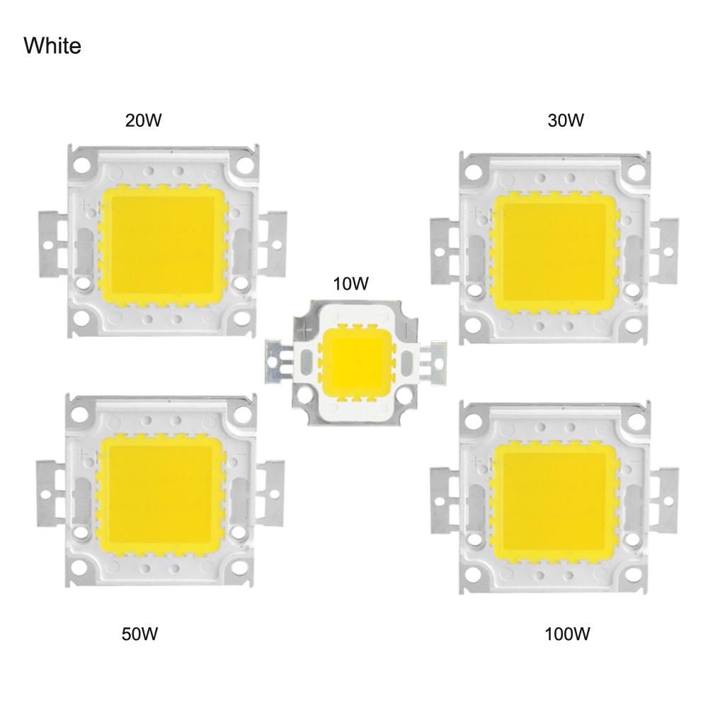 High Power COB LED Chip 10W 20W 30W 50W 100W DC 10V-32V Integrated Beads SMD For Floodlight Spotlight Warm White /White(China (Mainland))