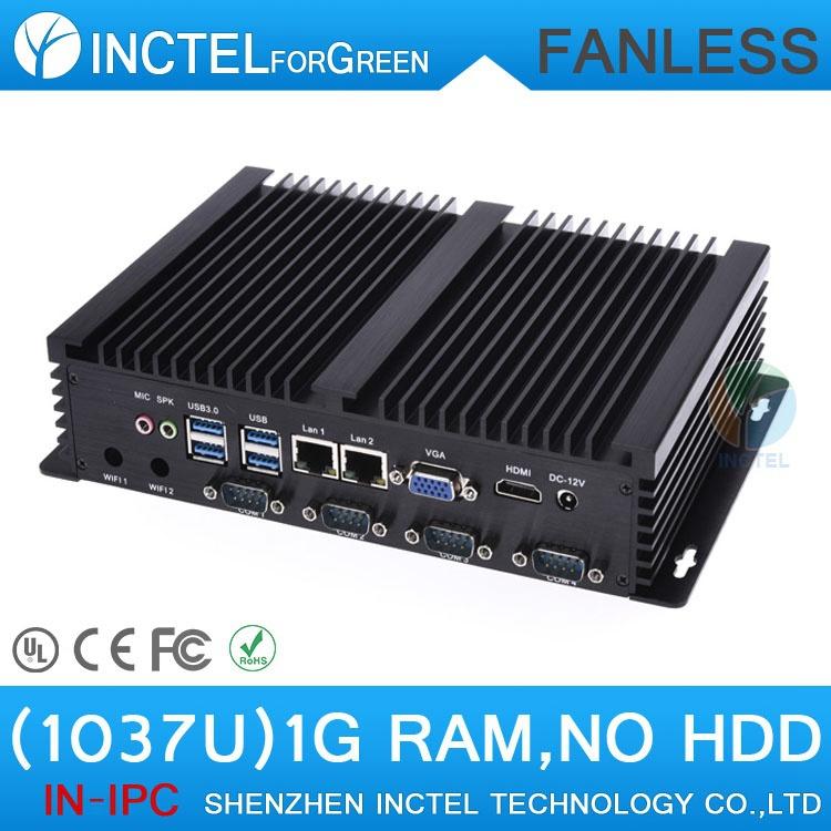 OEM Factory Computer USB 3.0 Dual Gigabit LAN 4*COM Auto Boot Intel Celeron C1037U 1.8Ghz RAM only(China (Mainland))