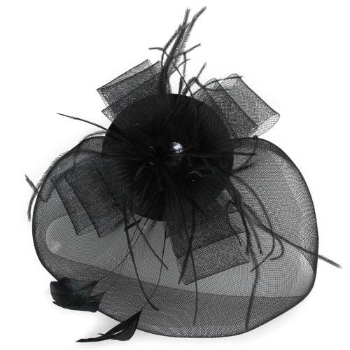 2015 Hot Black Feather Veil Hair Clip Top Hat Party Cosplay Hot(China (Mainland))