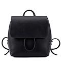 2016 New Fashion Solid Color Backpack Korean Style Simple Plain Bag Women Designer Zipper Flap Drawstring