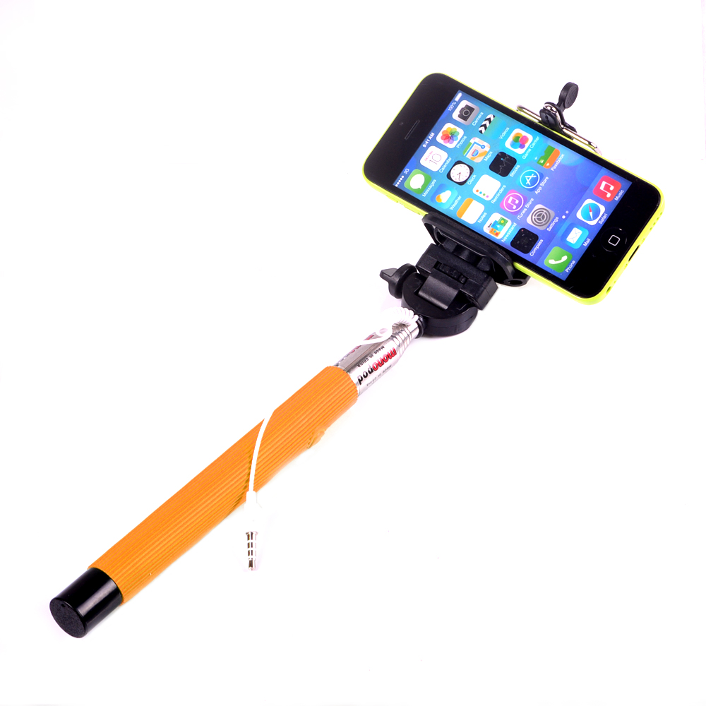 extendable self selfie stick handheld audio volume key cable selfiepod self timer stick monopod. Black Bedroom Furniture Sets. Home Design Ideas