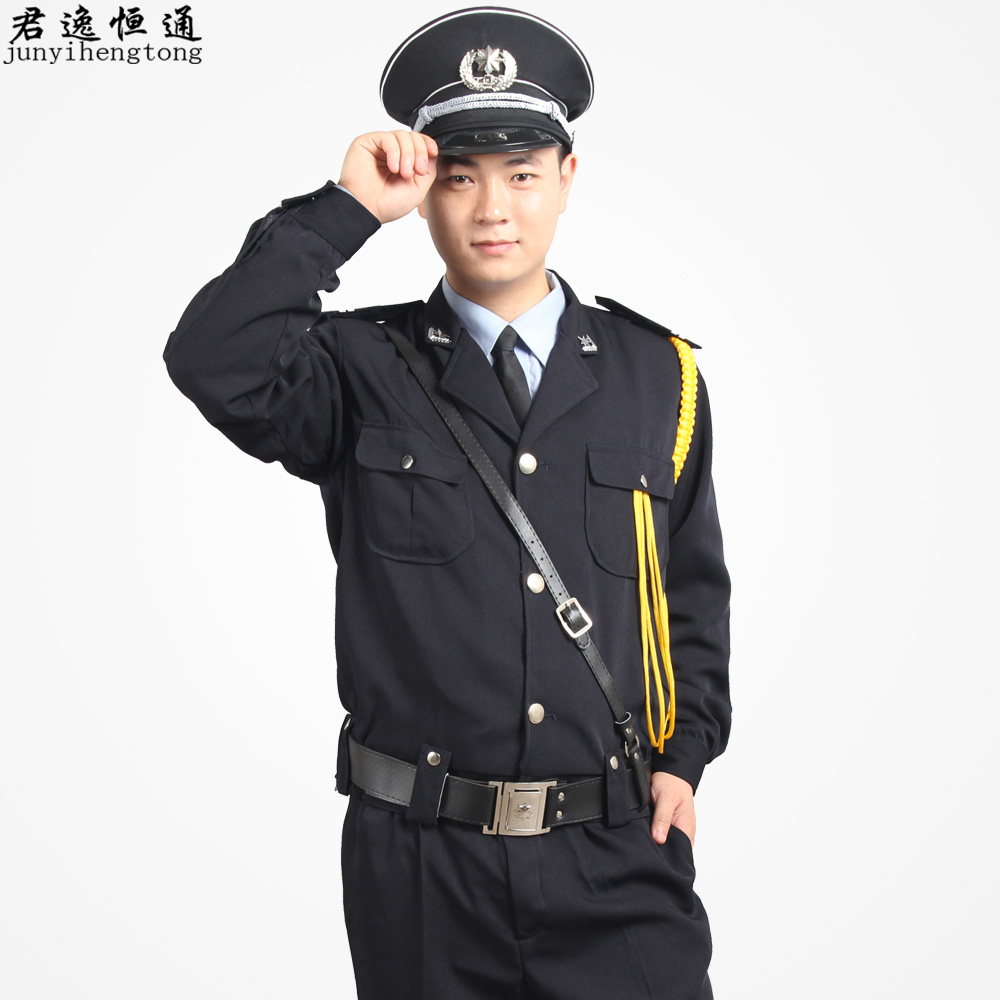 Security b502 long-sleeve men suit full set of autumn and winter work wear uniforms security men(China (Mainland))