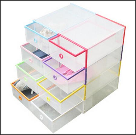 1pcs/lot 32.2x22x11.8cm Random color Transparent Shoe Boxes Clear Plastic PP Storage Box Packaging Box For Shoes For Women(China (Mainland))