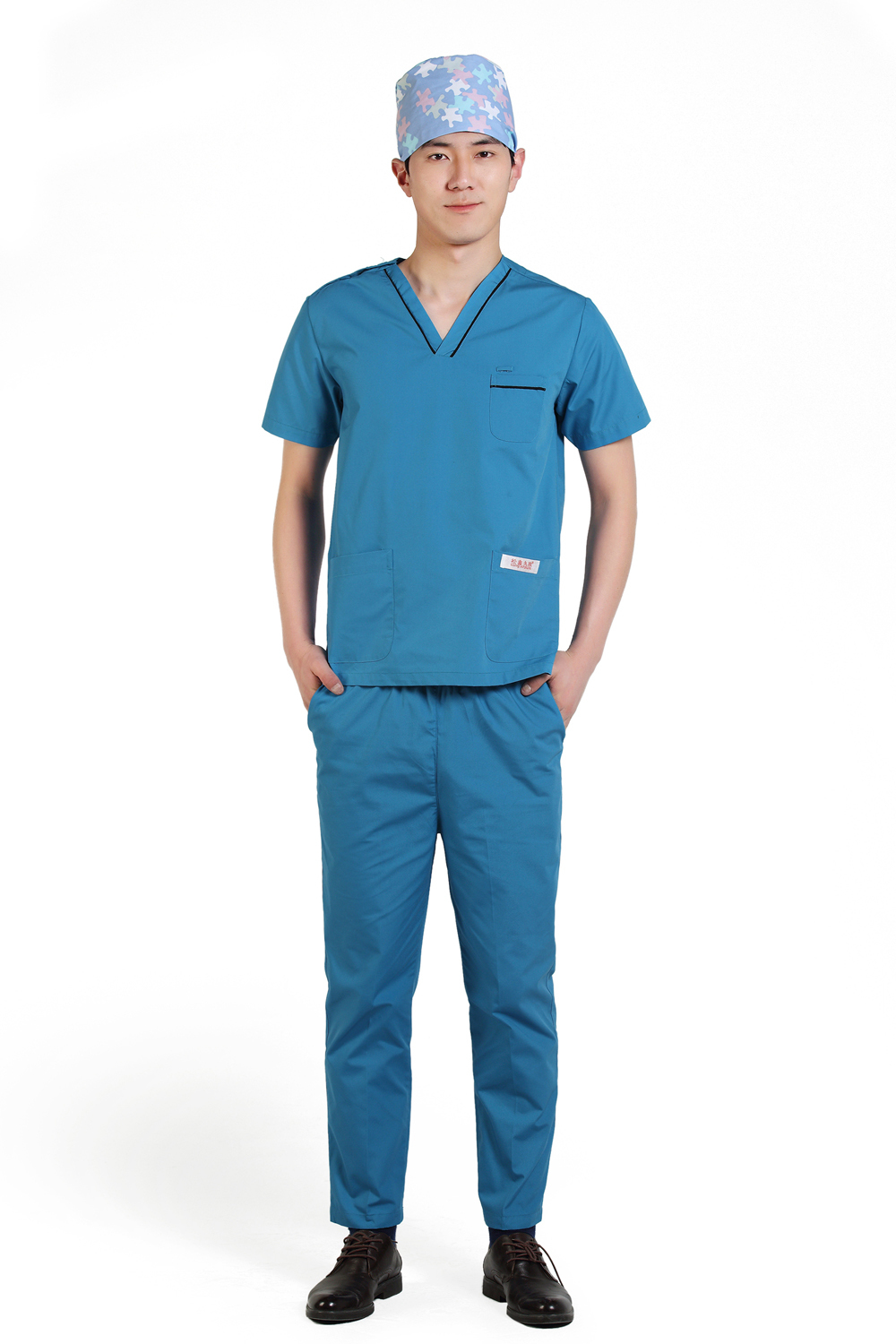 2015 OEM uniformes hospital scrub sets hospital workwear medical scrub suit hot sale for summer(China (Mainland))