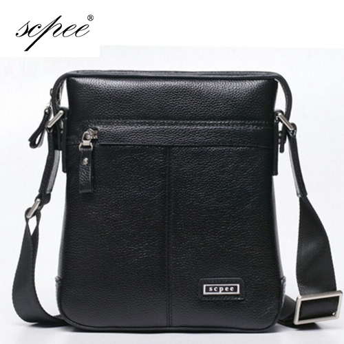 SCPEE New Men's Messenger Bag, Leather Shoulder Bag Casual Fashion Briefcase, IPAD Bag, Free Shipping Buy 1 get 3(China (Mainland))