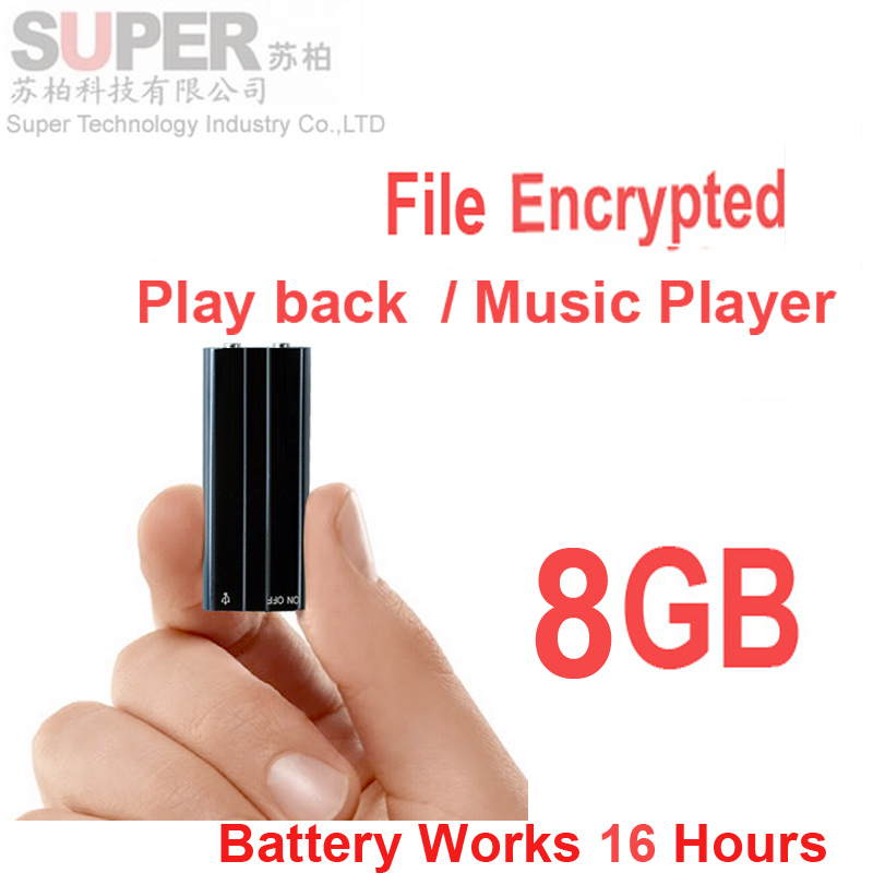 x20 8GB MP3 player+ file encryption memory disk support voice recorder function activated audio reorder music player - Super Technology Industry Co., LTD store