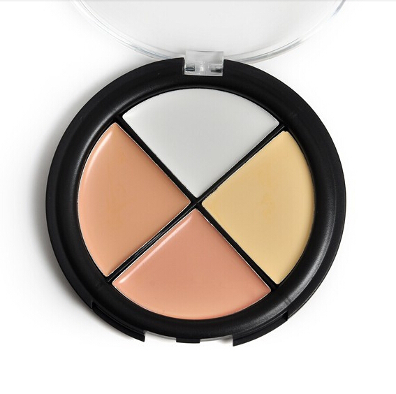 4 Color Brighten Natural Concealer Palette Face Cream Long-lasting Concealers Professional Makeup Foundation Powder Palette(China (Mainland))