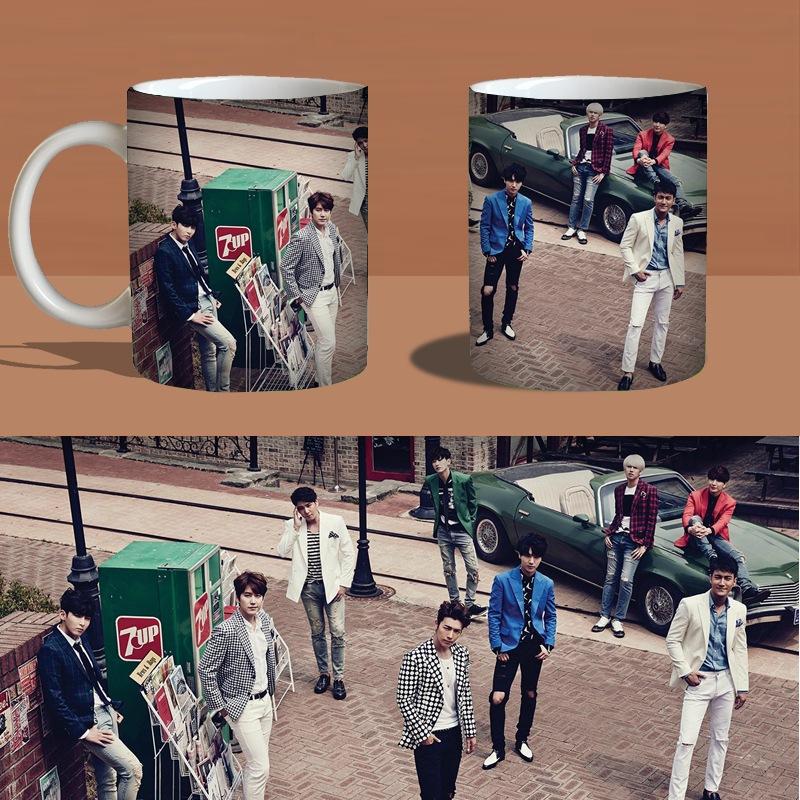 super junior magic sj Color Changeing Mug Print Anime Coffee Cup Man Morning Tea Cups With Gift Box MKB562(China (Mainland))