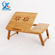 Multifunctional Foldable Bamboo Laptop Desk Notebook Computer Table with Cooling Fan and Drawer 49x29x29cm Fast Shipping(China (Mainland))