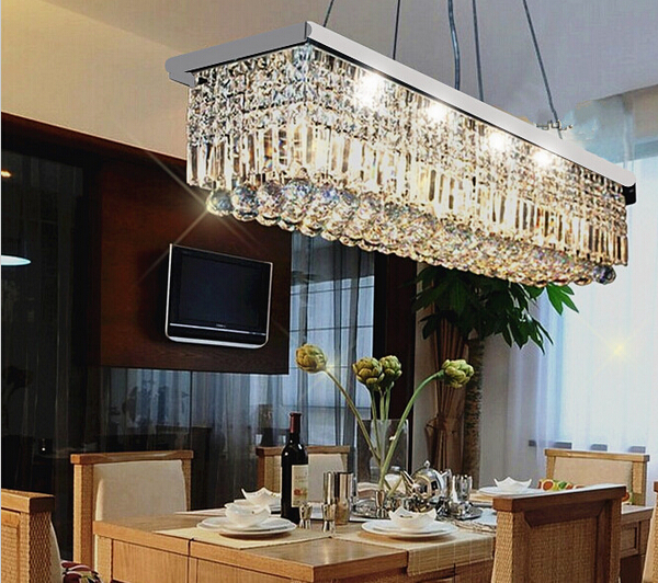 Free shipping 2014 NEW Modern Crystal Chandelier for dining room Rectangle Ceiling Chandelier