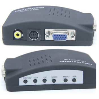 Multi 1pcs Retail TV RCA Video S-video to PC VGA Monitor Adapter Converter Box