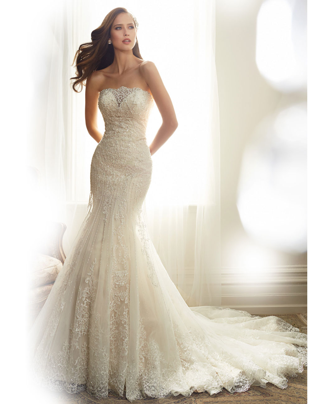 Sexy backless wedding dresses 2016 elegant simple lace for Beading for wedding dress