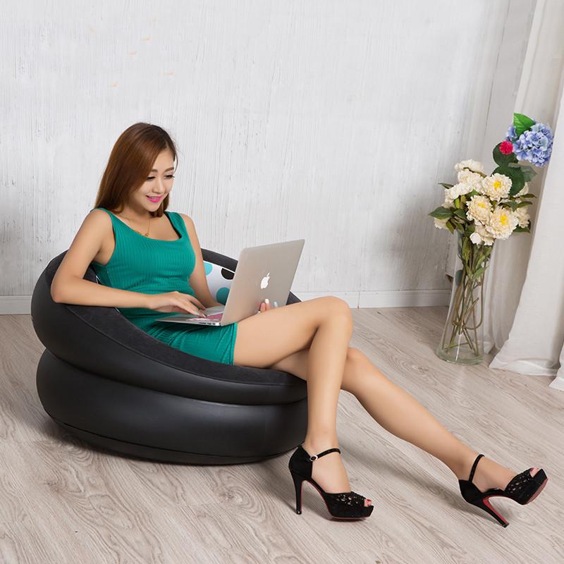 High Quality Single Bean Bag Sofa with Air Pump Inflatable Sofa