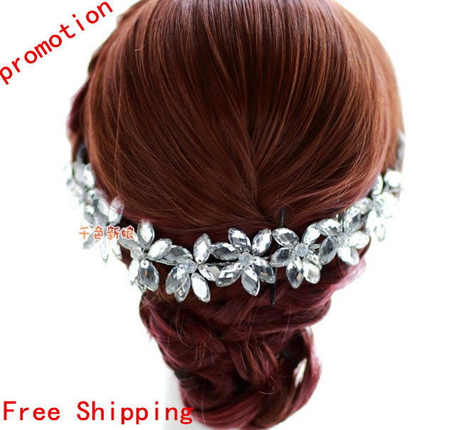 Crystal headbands for women luxury,wedding bridal hair accesories hair chain , happy birthday accessories Wholesale q301(China (Mainland))