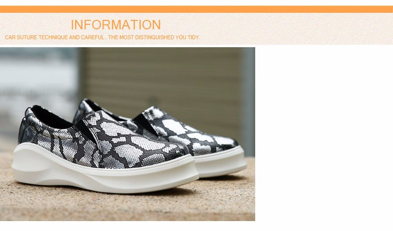 2016 New Spring Fall Fashion Flat Women Loafers Shoes Platform A Pedal Lazy Female Casual Single Shoes Gold Sliver Z3.5