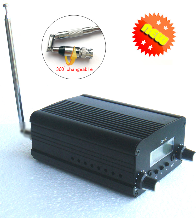 1/set 1W/7W FM broadcast transmitter radio station audio converter built-in PLL frequency + Small antenna(China (Mainland))