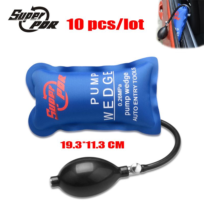 10pcs Locksmiths Tools Pump Wedge Air Wedge Auto Entry Tools Airbag Lock Pick Set Auto Lockout Car Window Open tools 19.3*11.3cm(China (Mainland))