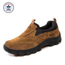 2016 New Promotion Medium(m,d) Brand Outdoor Trekking Shoes Genuine Anti-skid Boots Men Mountain Climbing Hiking Freeshipping