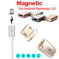 Factory price NEW Hot Micro USB Magnetic Adapter Charger Cable Metal Plug For Android Samsung LG