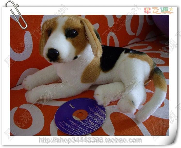 about 30cm simulation prone beagle dog plush toy Christmas gift birthday gift h566(China (Mainland))