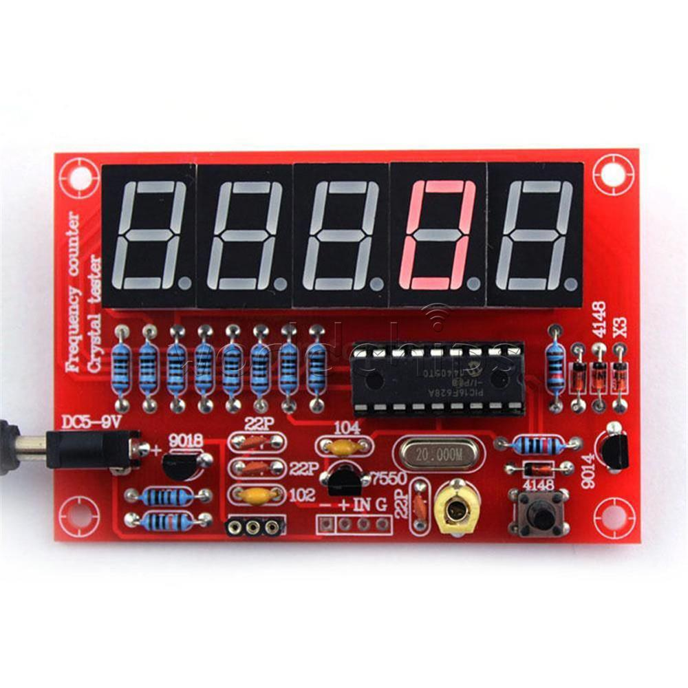 DIY Kits 1Hz-50MHz Crystal Oscillator Frequency Counter Meter Digital LED PIC Circuit Is Simple and Easy To Make(China (Mainland))